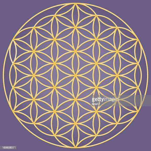 花の生活のシンボル - ユダヤ教点のイラスト素材/クリップアート素材/マンガ素材/アイコン素材