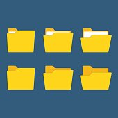 Yellow folder vector.