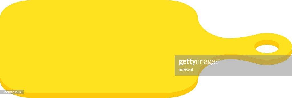 Yellow food board vector illustration