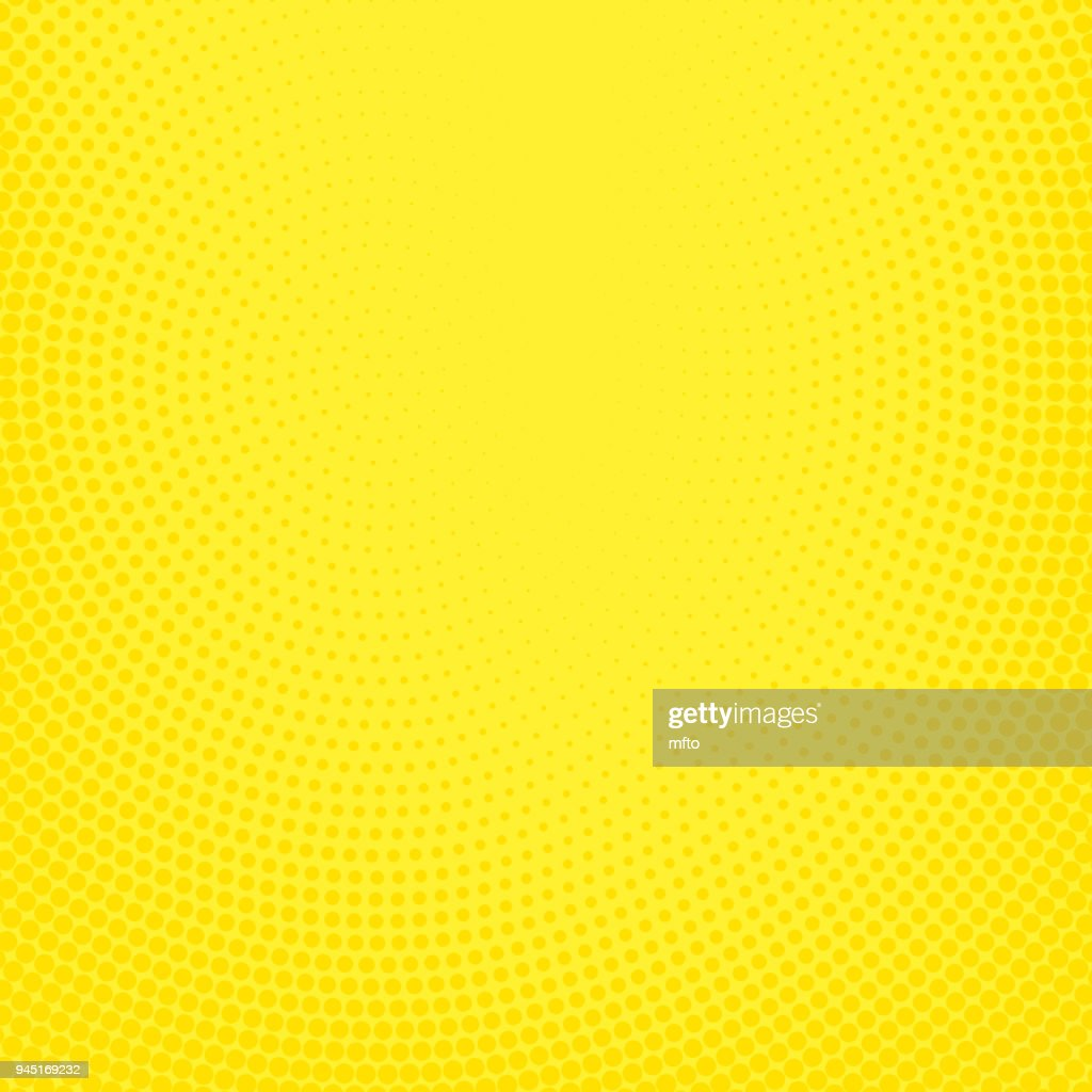 Yellow halftone spotted background