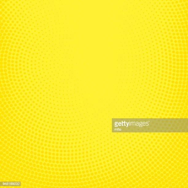 yellow halftone spotted background - yellow background stock illustrations