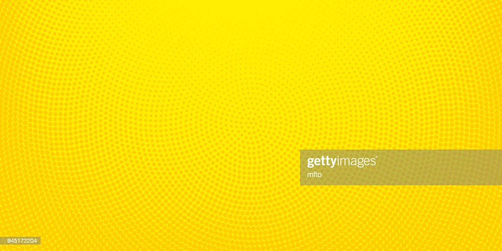 Yellow halftone spotted background : stock illustration