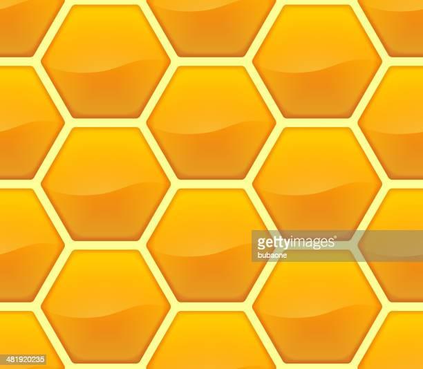 Hexágono de fundo de Favo de mel amarelo sem costura