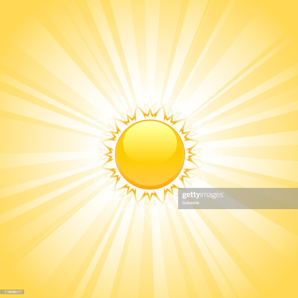 yellow illustration of sun with glowing background