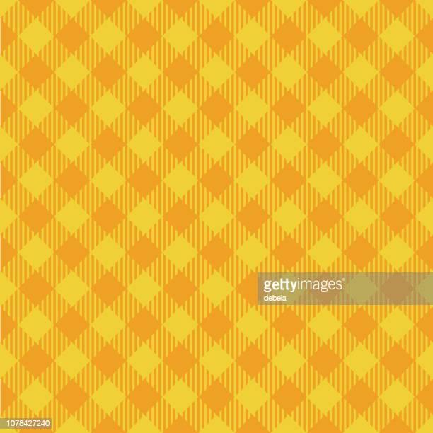 黄色の木こりアーガイル パターン背景 - ギンガムチェック点のイラスト素材/クリップアート素材/マンガ素材/アイコン素材