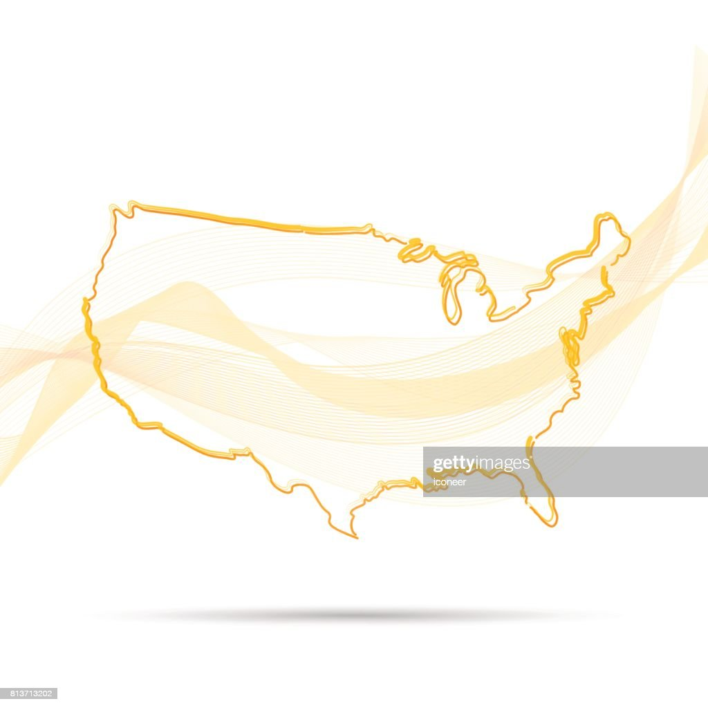 usa yellow map modern style on background vector art getty images