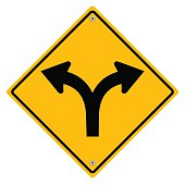 Yellow metal sign.