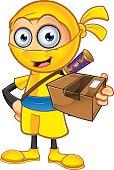 Yellow Ninja - Holding Parcel