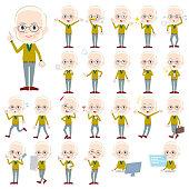 Yellow Ocher knit old man White_1