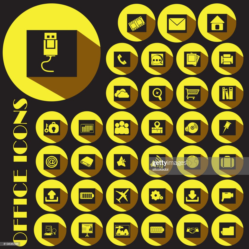 yellow office icons