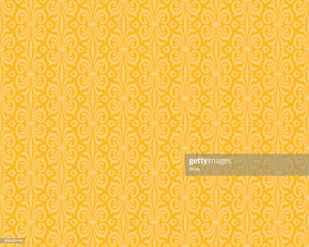 Yellow orange colorful retro wallpaper background design