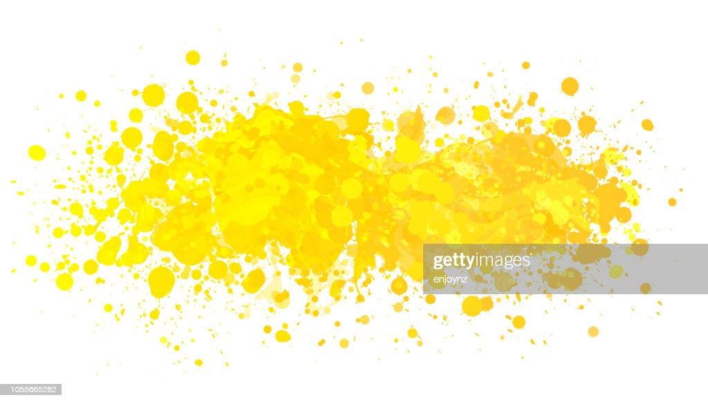 Yellow Paint Splash stock illustration - Getty Images