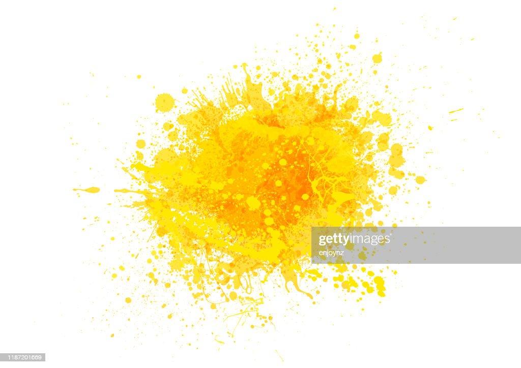 Gelbe Farbe Spritzer : Stock-Illustration