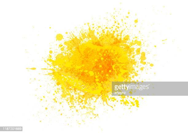 yellow paint splash - orange color stock illustrations