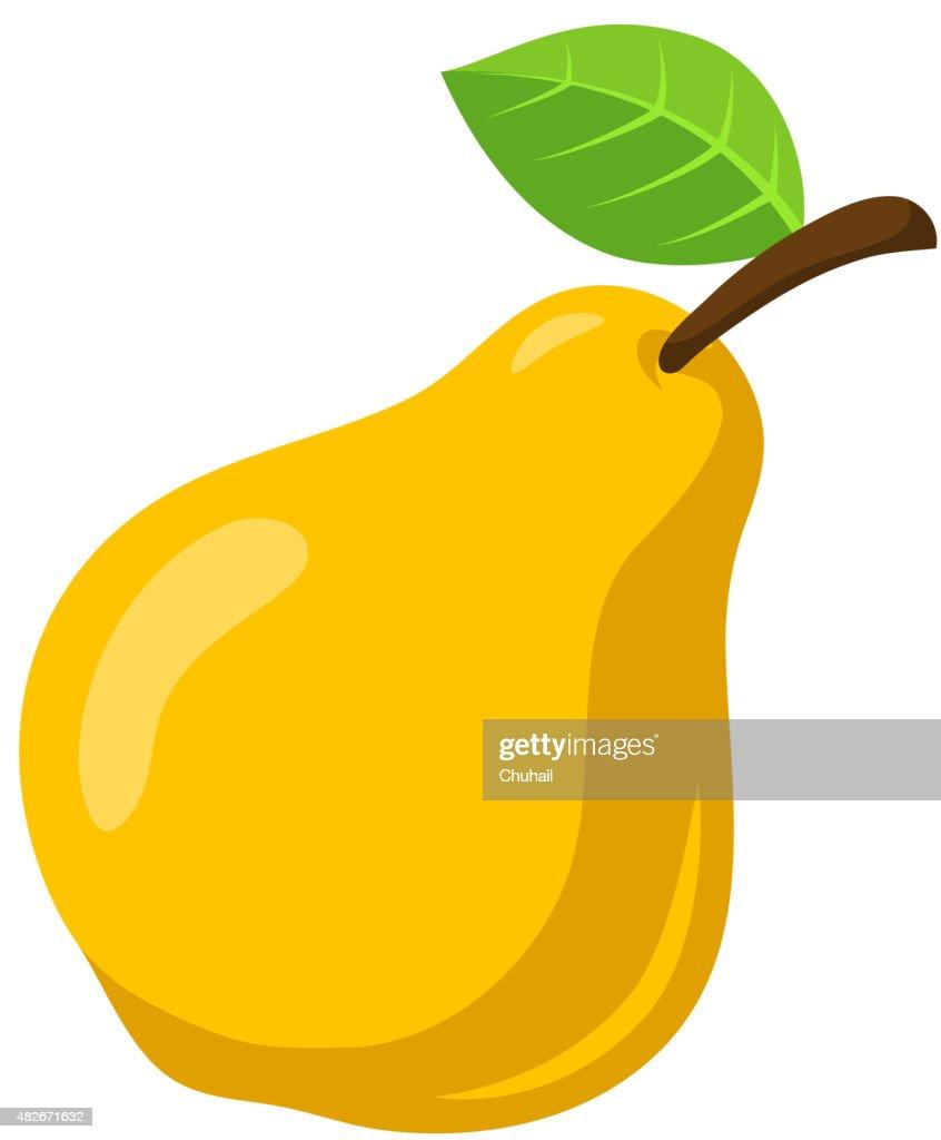 Yellow pear fruit.