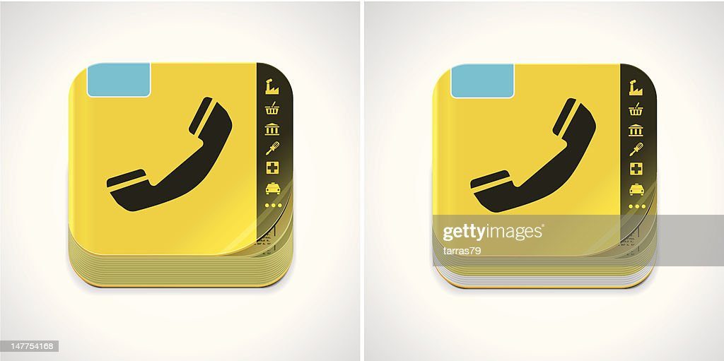 Yellow phone book icon