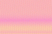 Yellow pink dotted halftone. Horizontal frequent dotted gradient.