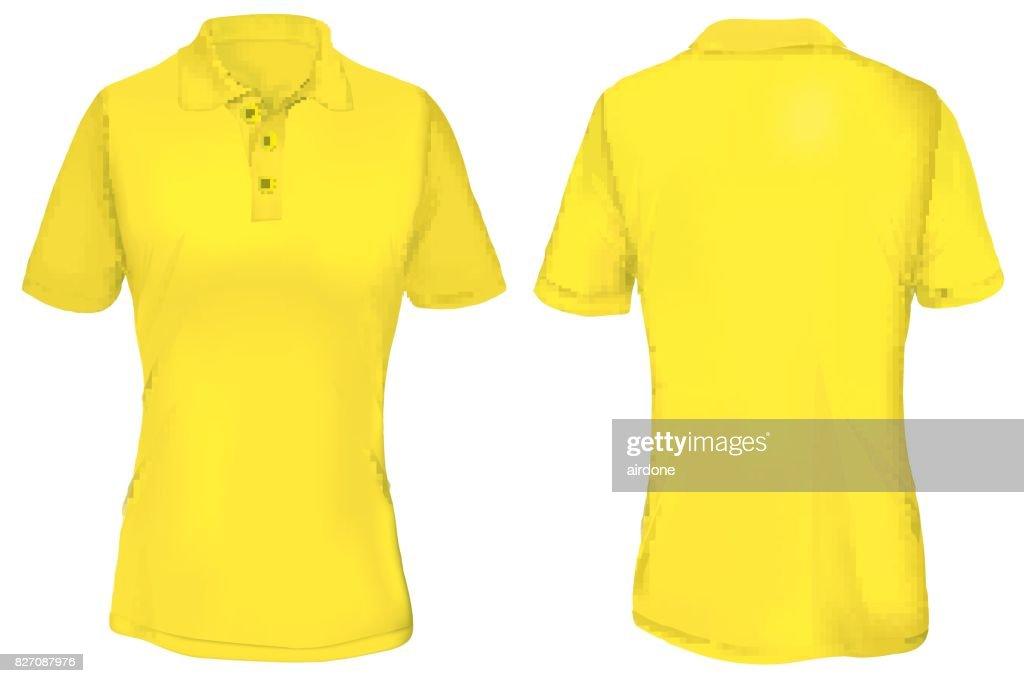 Yellow Polo Shirt Template for Woman