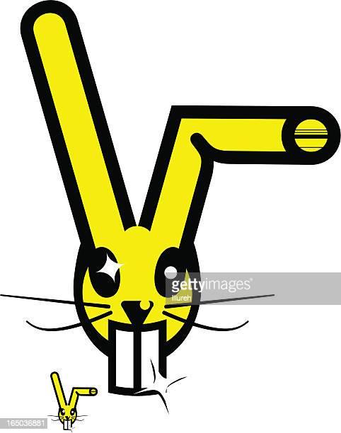 黄色の rabbit