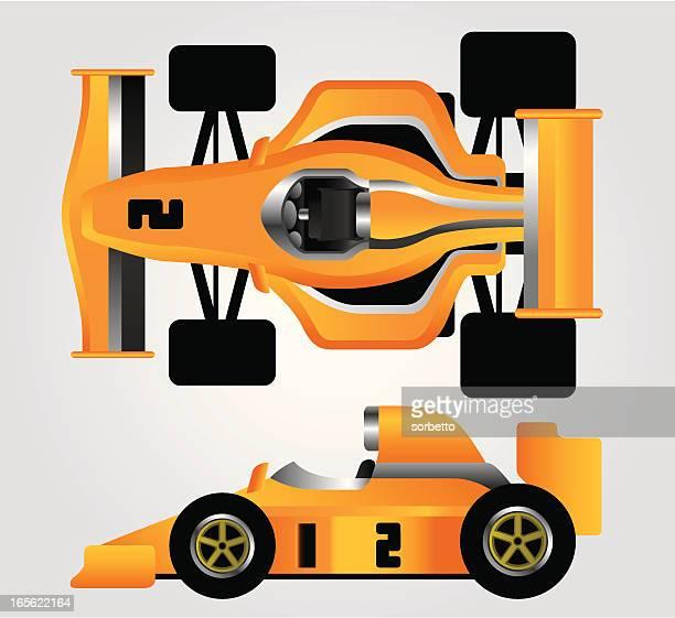 ilustrações, clipart, desenhos animados e ícones de carro de corrida amarelo - fórmula 1