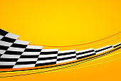 Yellow racing background