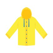 Yellow raincoat waterproof clothes