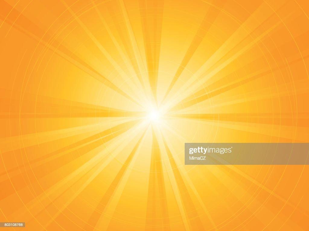 yellow rays radial sun background