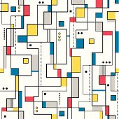 yellow red and blue abstract pattern