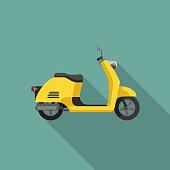 Yellow Retro Scooter