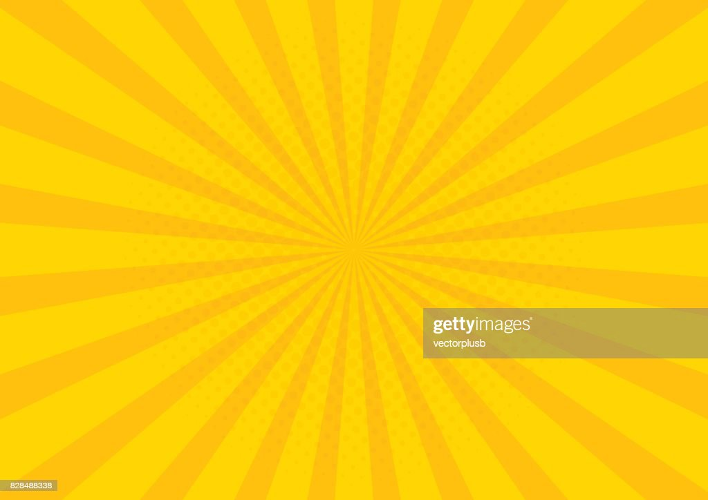 Yellow Retro vintage style background with sun rays vector illustration