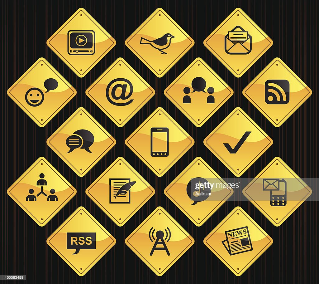 Yellow Road Signs - Blogging