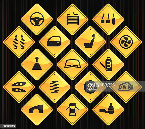 Yellow Road Signs - Car Parts