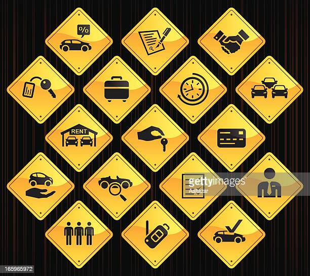 Yellow Road Signs - Car Rental