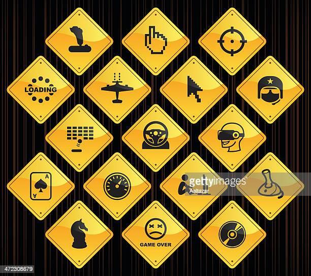 Yellow Road Signs - Computer Gaming