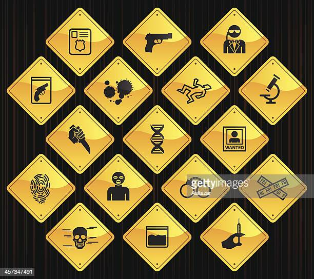 Yellow Road Signs - FBI & Forensics