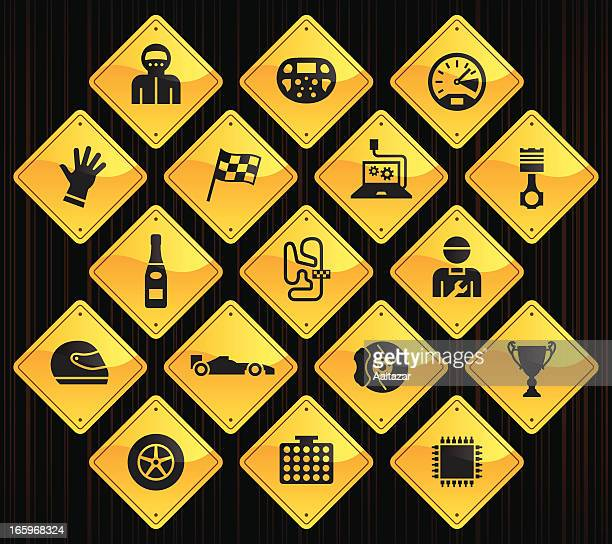 Yellow Road Signs - Formula One