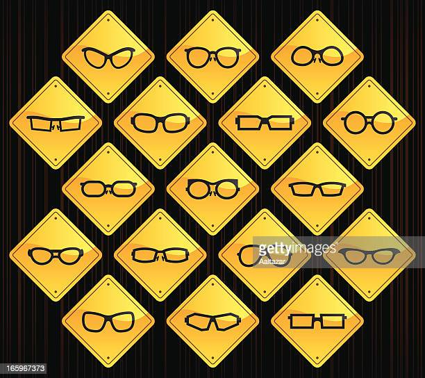 Yellow Road Signs - Glasses