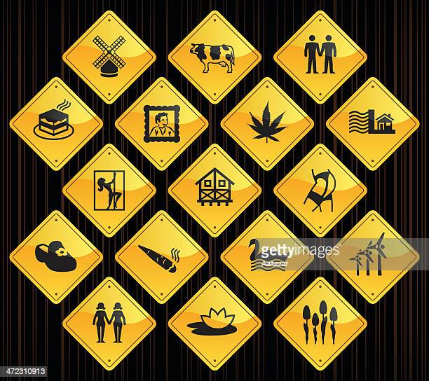 Yellow Road Signs - Holland