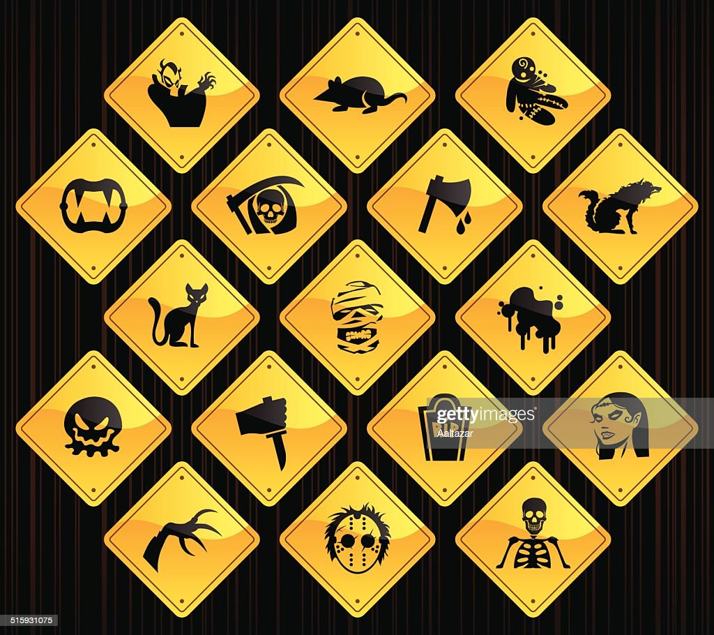 Yellow Road Signs - Horror