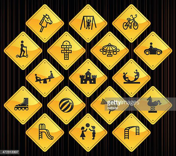 Yellow Road Signs - Playground