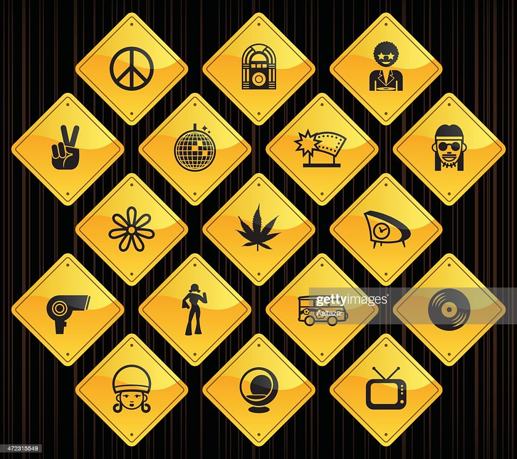 Yellow Road Signs - Retro