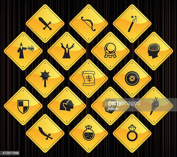 Yellow Road Signs - Role Playing Games