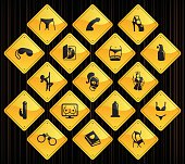 Yellow Road Signs - Sex Industry