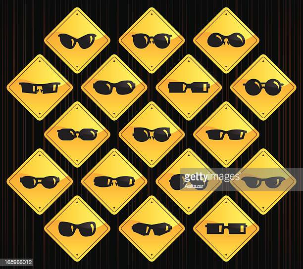 Yellow Road Signs - Sunglasses