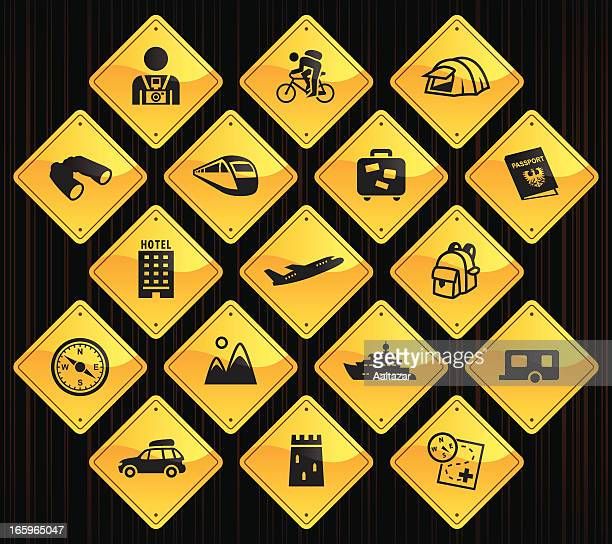 Yellow Road Signs - Tourism
