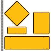 Yellow Roadsigns Set