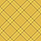 Yellow Scottish Tartan Plaid Textile Pattern