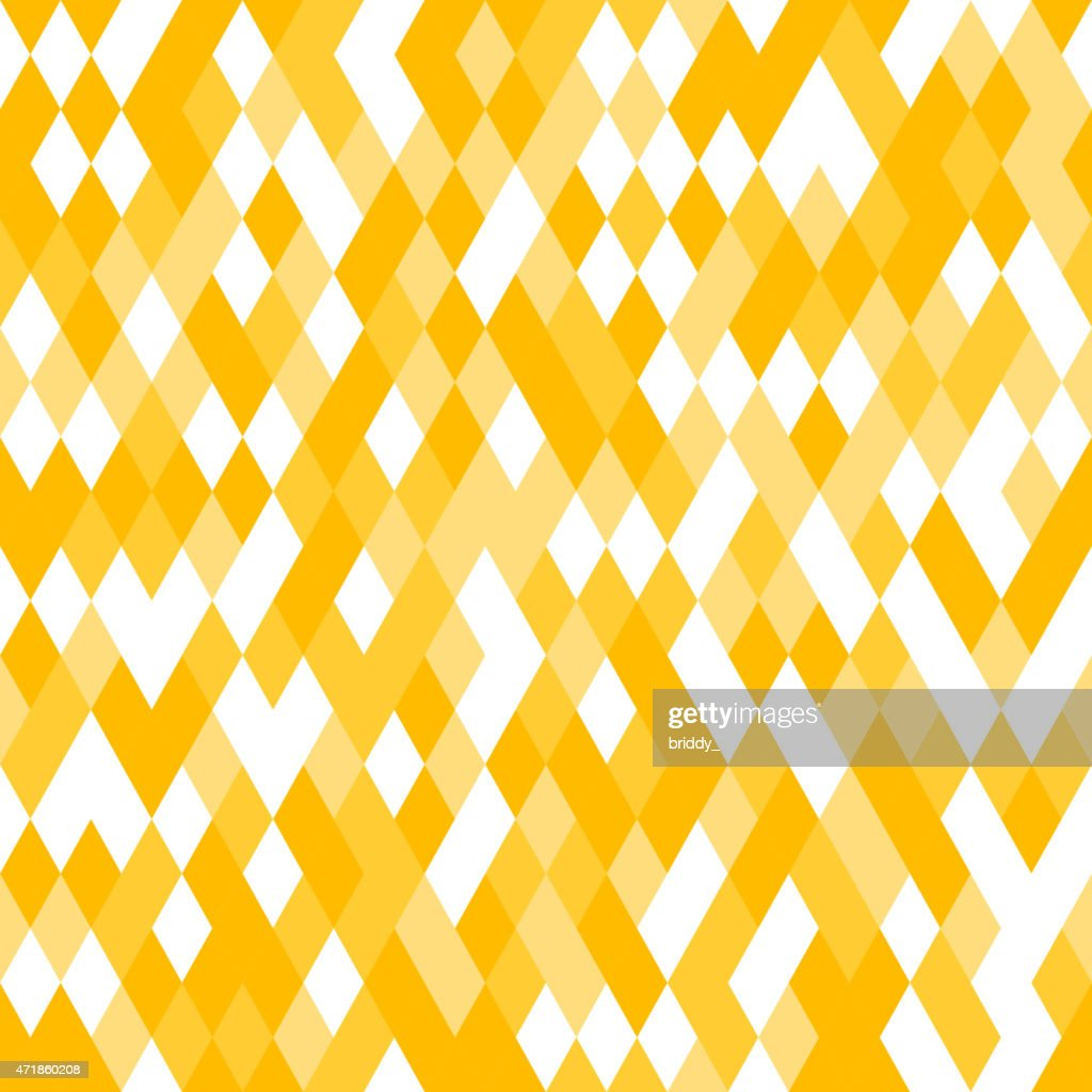 Yellow Seamless Pattern with Random Colored Mosaic