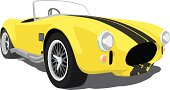 Yellow Shelby Cobra