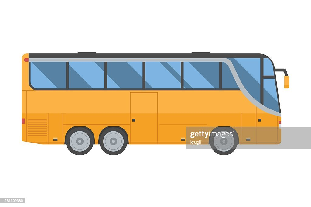 Yellow Shuttle Bus